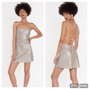Nasty Gal Sequin Mini Dress